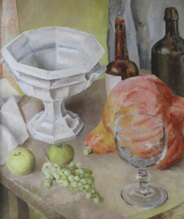 MAUD AINSLIE (1870-1960), Still Life with Compote, Oil on panel