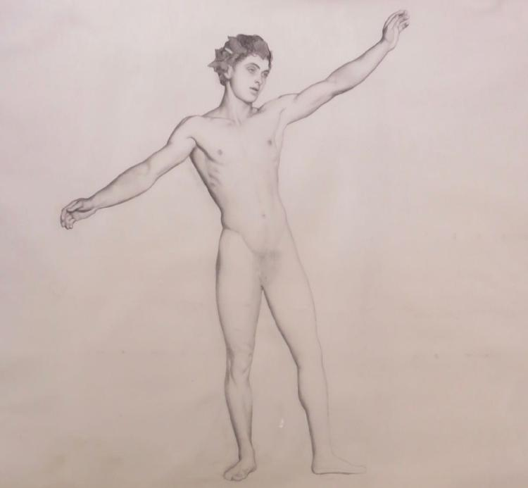 R.H. IVES GAMMELL (1893-1981), Male Nude, Graphite