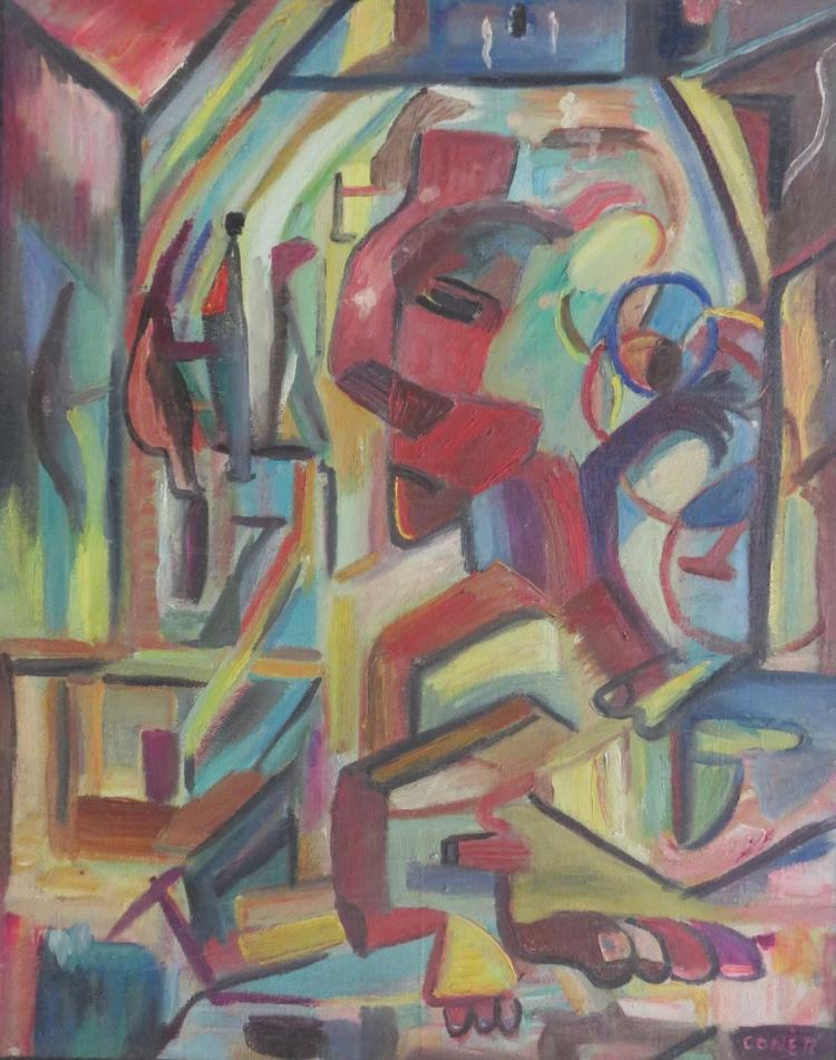 CONER, Abstract, Oil on canvas