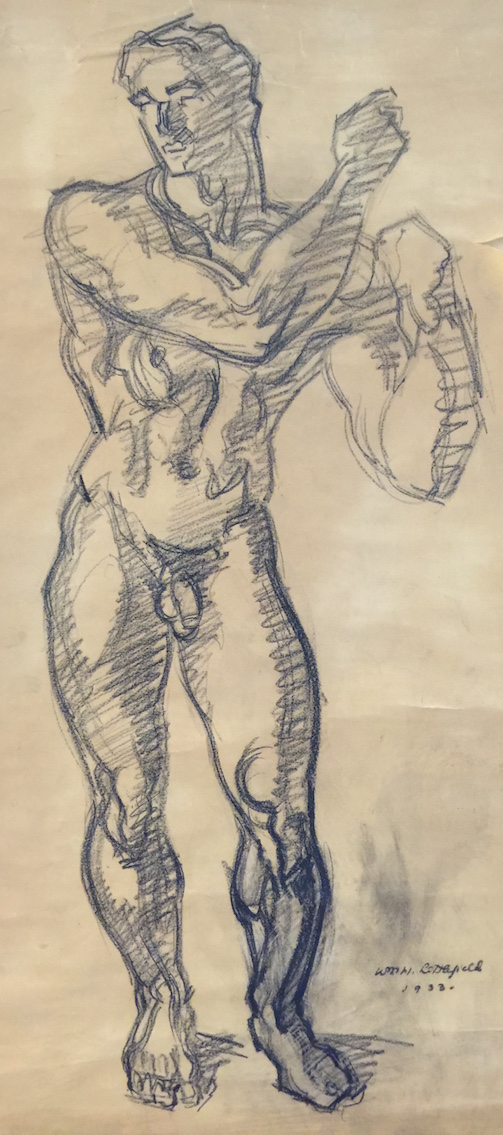 WILLIAM H. LITTLEFIELD (1902-1969), Neptune, 1933, Pencil/charcoal