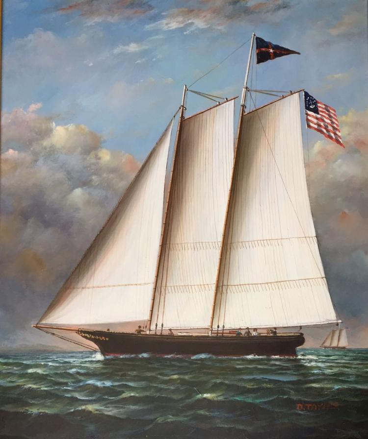 D. TAYLOR (20th centruy), Schooner, Oil