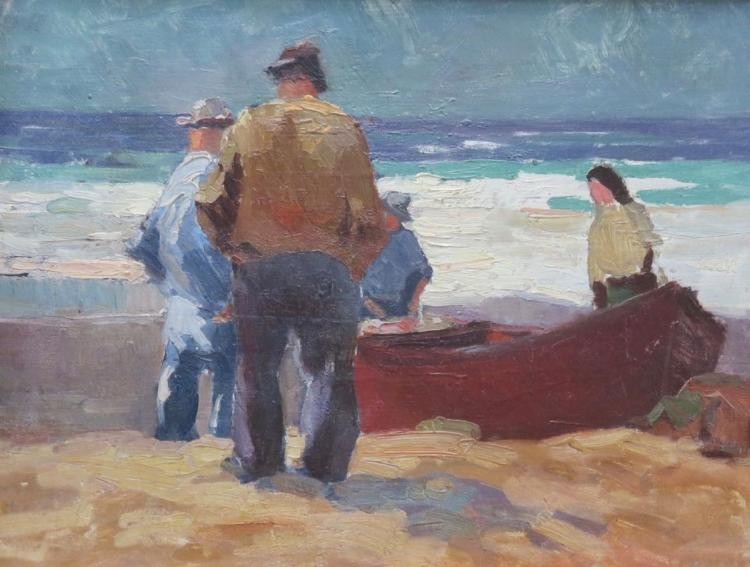GEORGE BRANDRIFF (1890-1936), Palaver, Newport, 1931, Oil on canvas