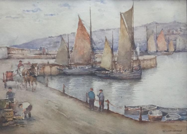 WILTON ROBERT LOCKWOOD (1861-1914), Harbor Scene, Watercolor