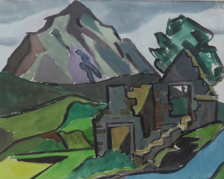 JOAN PEREIRA (1929 - ), Mountain View, Watercolor