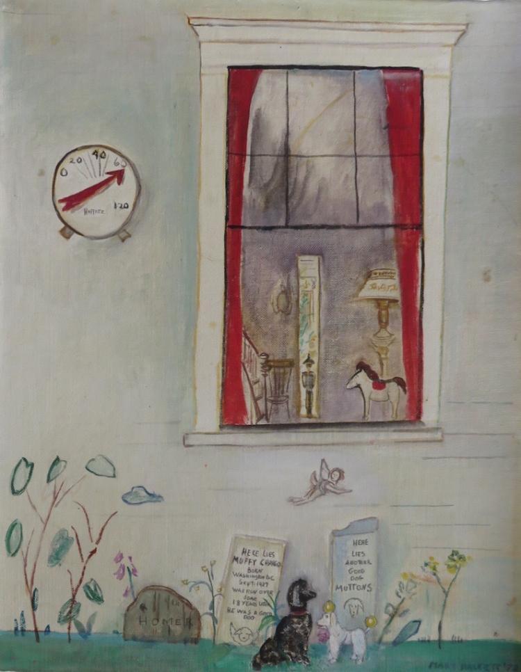MARY HACKETT (1906-1989), Dogs' Graves, 1978, Oil