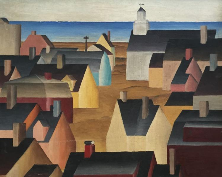 MOFFETT (20th century), Provincetown, Oil on canvas board