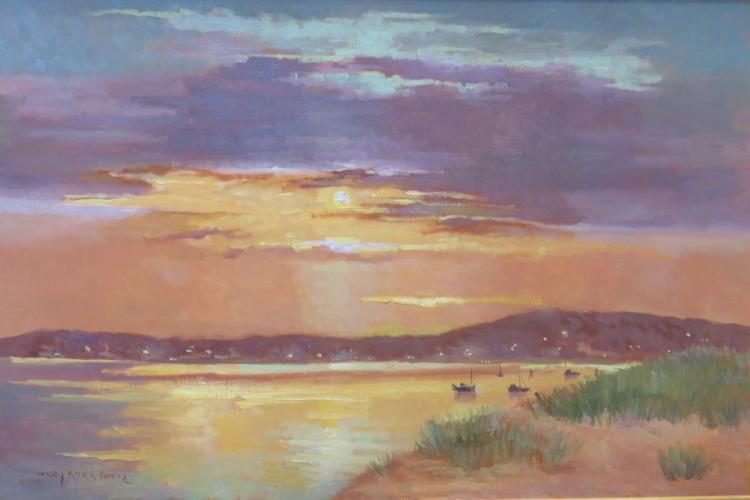MARY ANNA GOETZ (1946 - ), Provincetown at Sunset, 2005, Oil