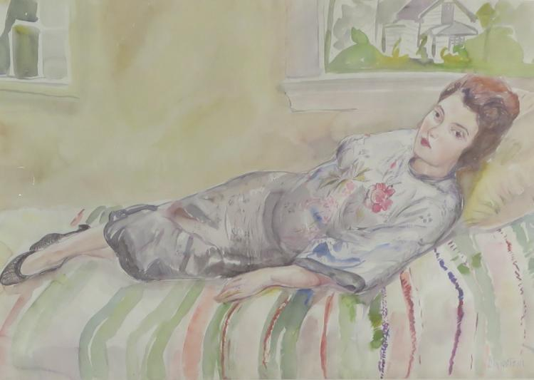 THERESA BERNSTEIN (1891-2002), Self-Portrait-22, Watercolor