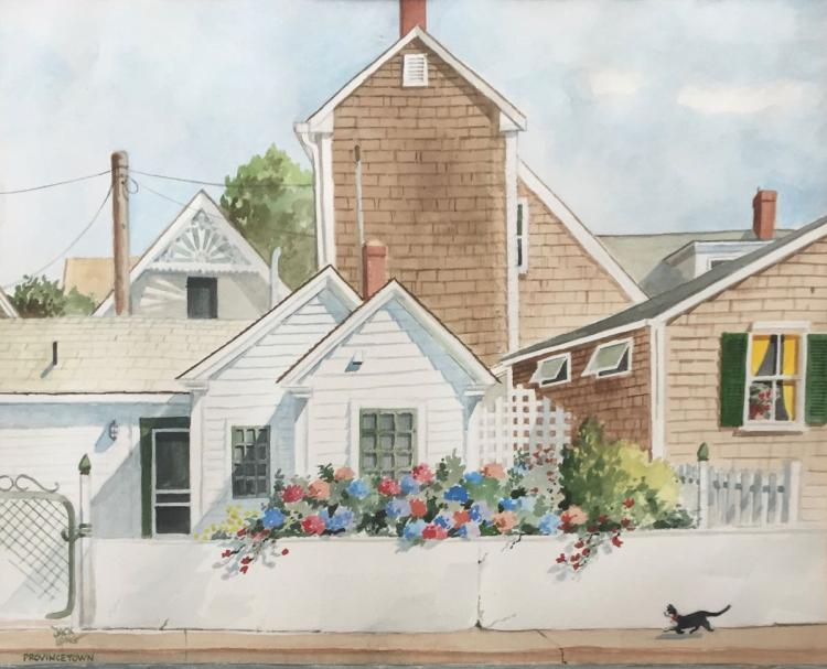 JACK LONG (1918-2008), Provincetown, Watercolor