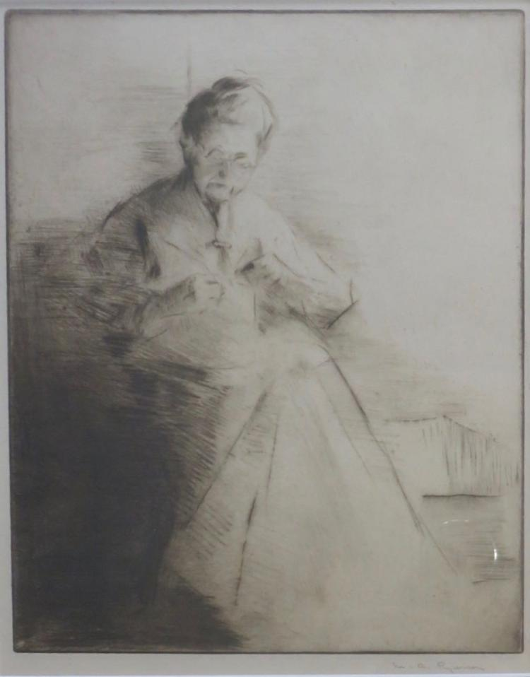 MARGERY RYERSON (1886-1989), Mrs. Hawthorne, c. 1915, Etching
