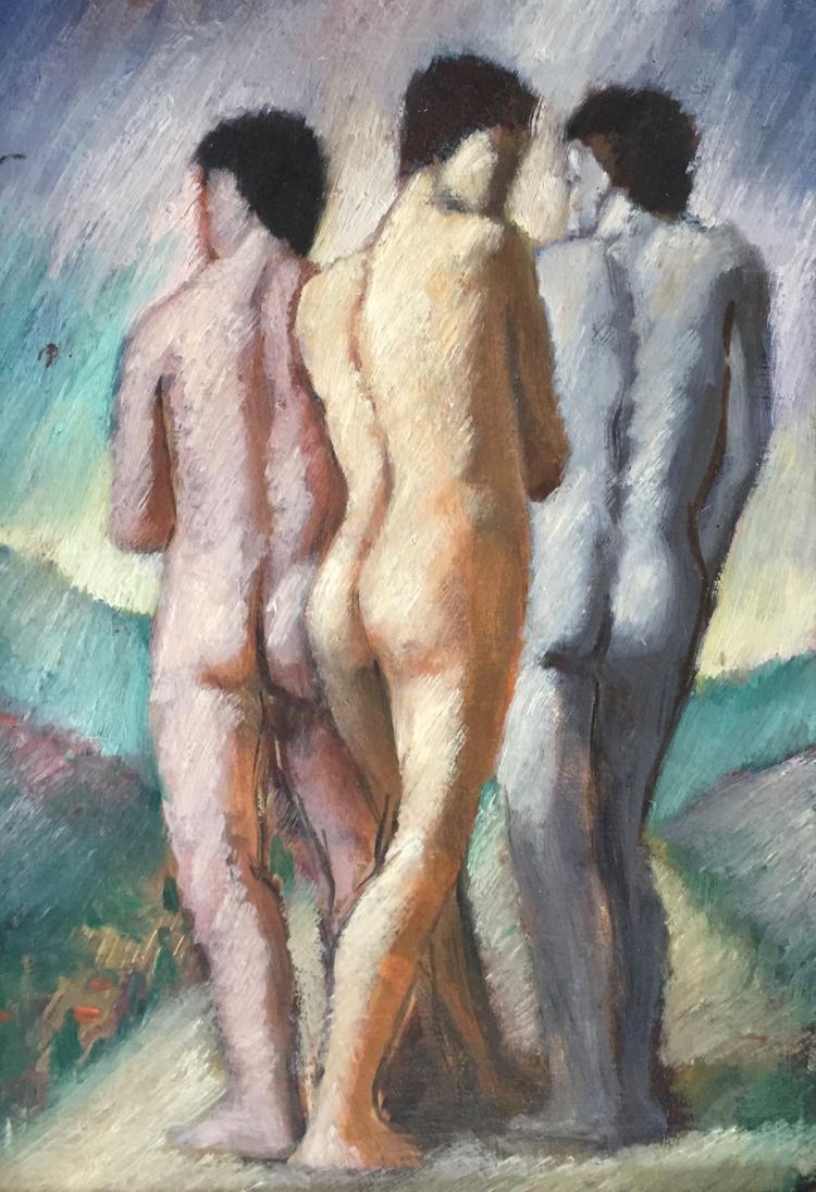 SAM ABATE (1946-2011), Trio, Oil