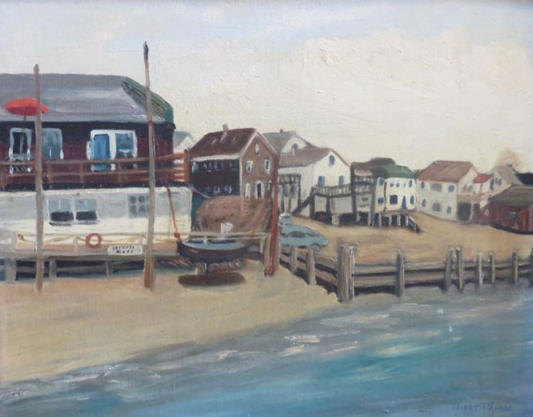 HARRY HAM (20th century), Provincetown, Oil on canvas panel