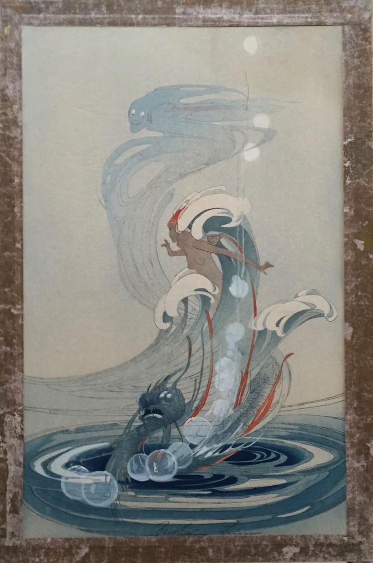 BERTHA LUM (1869-1954), Wind and Wave, c. 1920, Woodblock print
