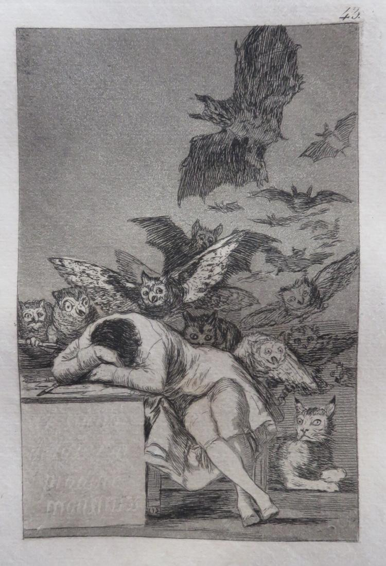the sleep of reason produces monsters essay The gestural language in francisco goya's 'sleep of reason produces  monsters'  as one way of remedying this deficiency, this essay aug- vehicle of  profound  francisco goya, the sleep (or dream) of reason produces monsters , plate.