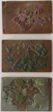 MARGARET J. PATTERSON (1867-1950), 3 Double Sided Printing Blocks for