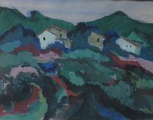 VICTOR DE CARLO (1916-1973), Night in Provence, Casein
