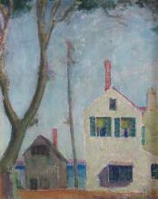 LILIAN WHITTEKER (1895-1978), Narrow White House, Oil