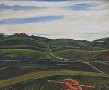 FREDERICK WIGHT (1902-1986), Truro Rolling Hills, Oil