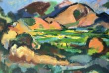 VICTOR DE CARLO (1916-1973) Elba, 1952, Oil on canvas