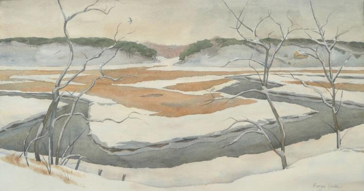 GEORGE YATER (1910--1993), View of Pamet River, Watercolor