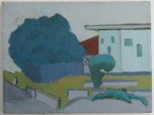 VICTOR DE CARLO (1916-1973), Florida Landscape (unfinished,) 1973, (Coral Gables) oil on canvas, unframed