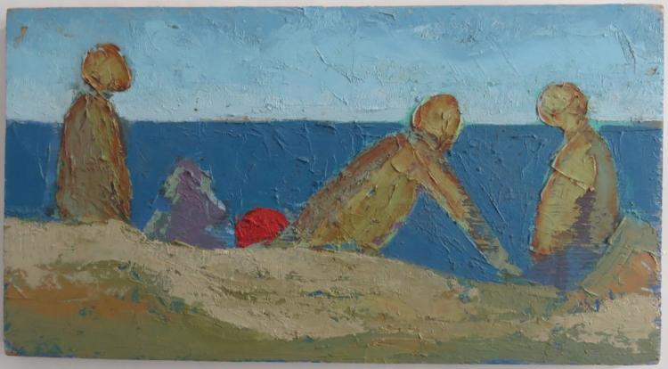 VICTOR DE CARLO (1916-1973), Bathers, c. 1967, oil on wooden panel