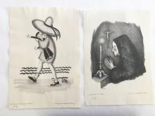SUSAN WILLARD FLINT (1902-1984), Lot of 2 (The Lass That Loved A Sailor, 1930, 17/25 & A Prayer to St. Christopher, 1931, 3/18), Lithograph