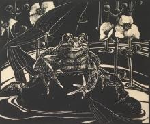 DOROTHY P. LATHROP (1891-1981), Leopard Frog, Ed. 50, Engraving