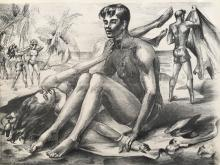 WALTER F. BARTSCH, On the Beach, Lithograph (double sided/duplicate image)