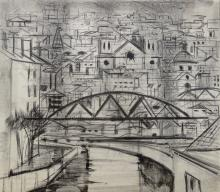 JOSEPH FLOCH (1895-1977), Untitled Cityscape, Lithograph (artist's proof)