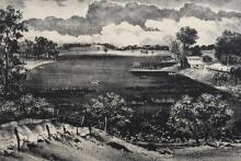 Adolf Dehn (1895-1968), A Peaceful Cove, Etching