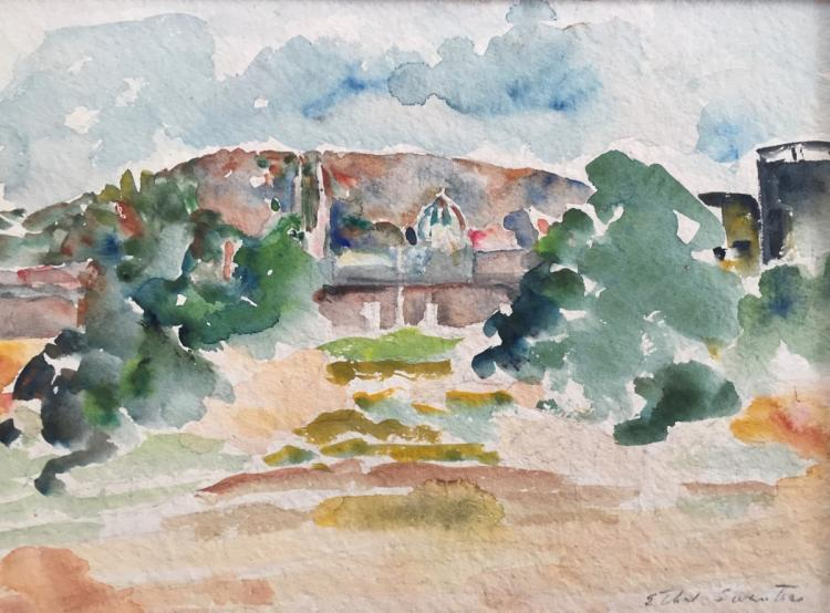 Ethel Swantees (1996-1981), St. Anne's, Waterbury, CT, Watercolor