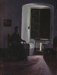 Josep Triadó Mayol Barcelona 1870 - 1929 Twilight interior