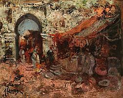Andrés Larraga Valtierra 1862 - Barcelona 1931 Arabian souk