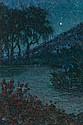 Nicolau Raurich Barcelona 1871 - 1945 Night landscape, Nicolás Raurich