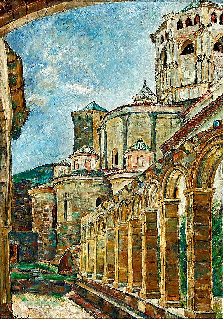 Jaume Mercadé (Valls, 1889-Barcelona, 1967) View of Poblet