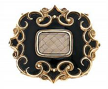 A locket brooch, probably English, from the mid 19th Century