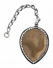 A silver and agate amulet, circa 1750