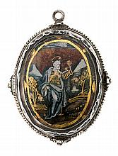 A pendant medallion from the first quarter of the 17th Century Sil