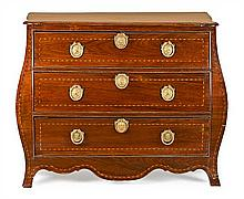 English Georgian-style chest of drawers in mahogany and oak with filleting, second third of the 20th Century 83x102x57 cm