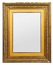 A mirror with a stucco and gold-plated wood frame, from the 19 Century Defects