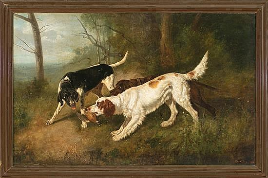 Antonio Milone Naples? 1843 - ? 1920 Dogs