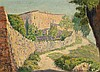 Marià Pidelaserra Barcelona 1877 - 1946 Rural View OIl on canvas stuck to wood Signed 23.3x31.5 cm, Maria Pidelaserra, Click for value