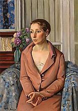 Francesc Domingo Segura Barcelona 1893 - Sao Paulo 1974 Portrait of Emília Cornet, wife of Feliu Elias