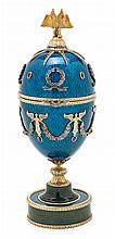 Henrik Immanuel Wigström, for Fabergé Taminisaari 1862- 1923 Easter Egg Silver, engraved and partially gilded,