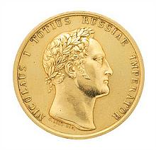 Russia, Tsar Nicholas I, (1825-1855), commemorative gold medal Medal of 1829 to commemorate the capture of Silistria on 18 June of that