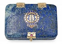 A lapis lazuli Russian box with a