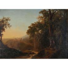 LOUISE JOSÉPHINE SARAZIN DE BELMONT (VERSAILLES 1790 - PARIS 1870). Attributed to. Italian landscape.