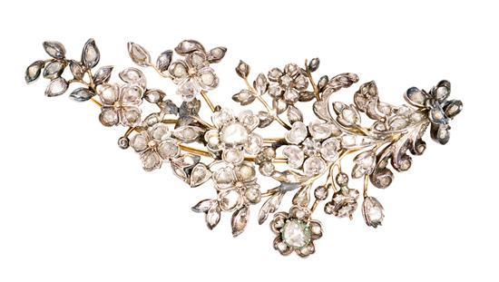 Broche isabelino de diamantes del siglo XIX
