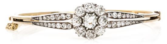 Pulsera de diamantes austro-húngara, de finales del siglo XIX
